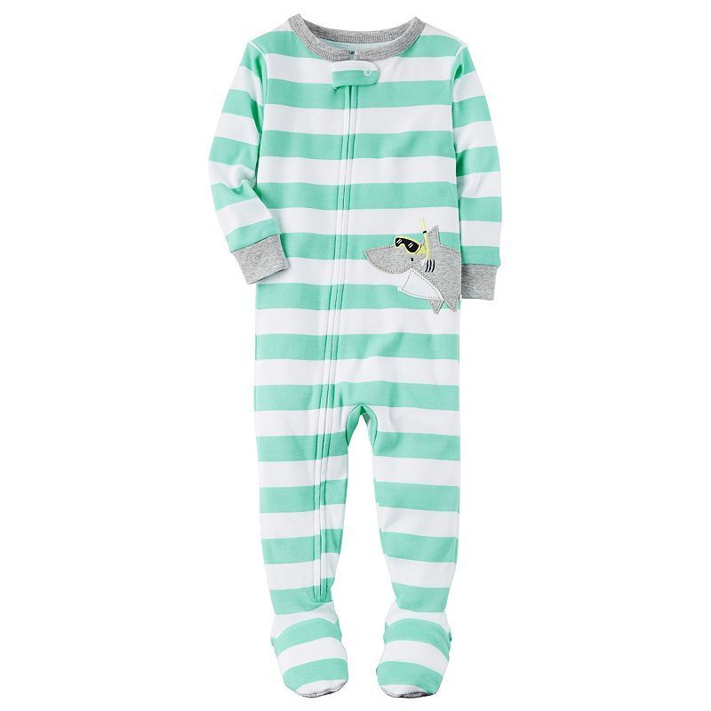 9e454b696 Baby Boy Carter s Striped Animal Footed Pajamas