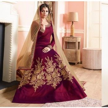 Buy online long anarkali dresses