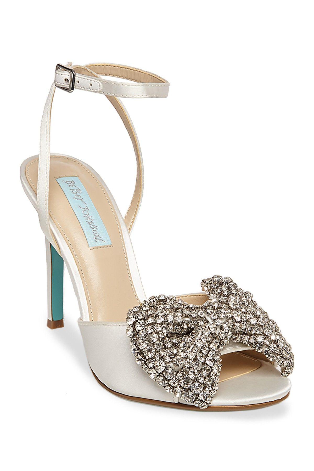 9e41622c5e3c Heidi Rhinestone Bow Dress Sandal Zapatos De La Salón