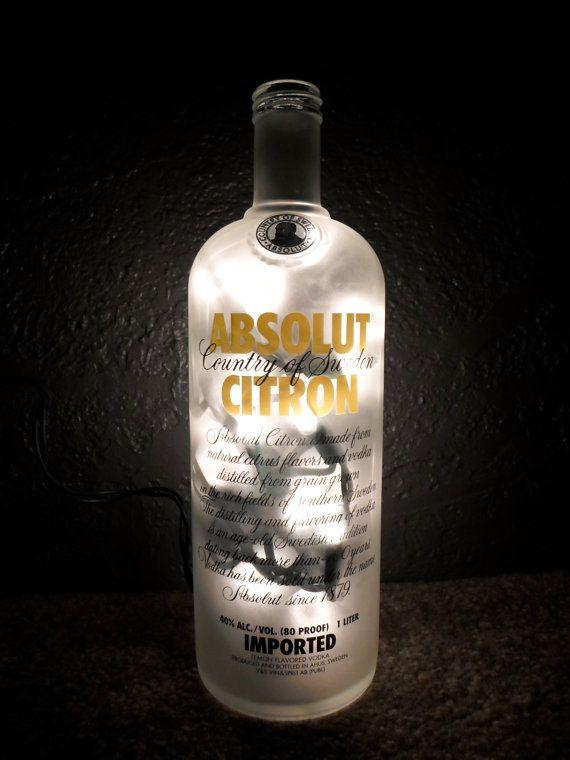 Absolut Citron Vodka Lighted Alcohol Lamp Christmas 21st Birthday on Etsy, $17.50