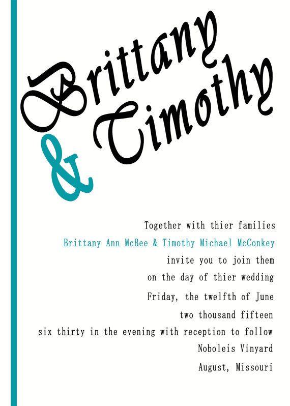 Simple Yet Elegant Wedding Invitation by 612Imagery on Etsy