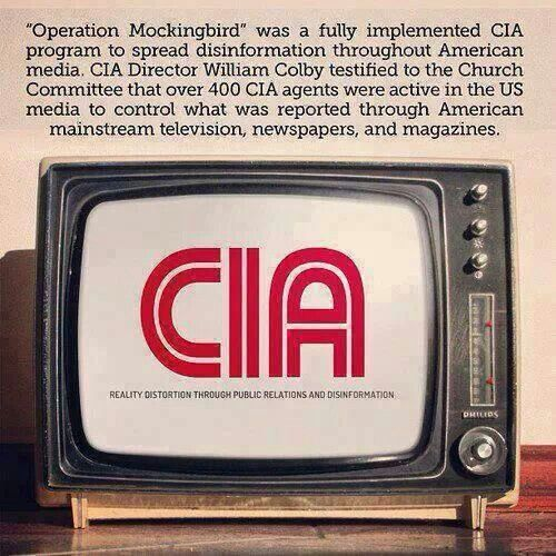 """""""Operation Mockingbird"""" The CIA is controlling your media. March Against the Mainstream Media"""