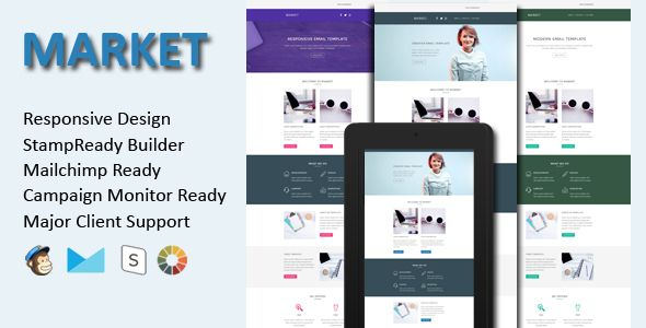 Market  Responsive Email Template  Stamp Ready Builder  Market