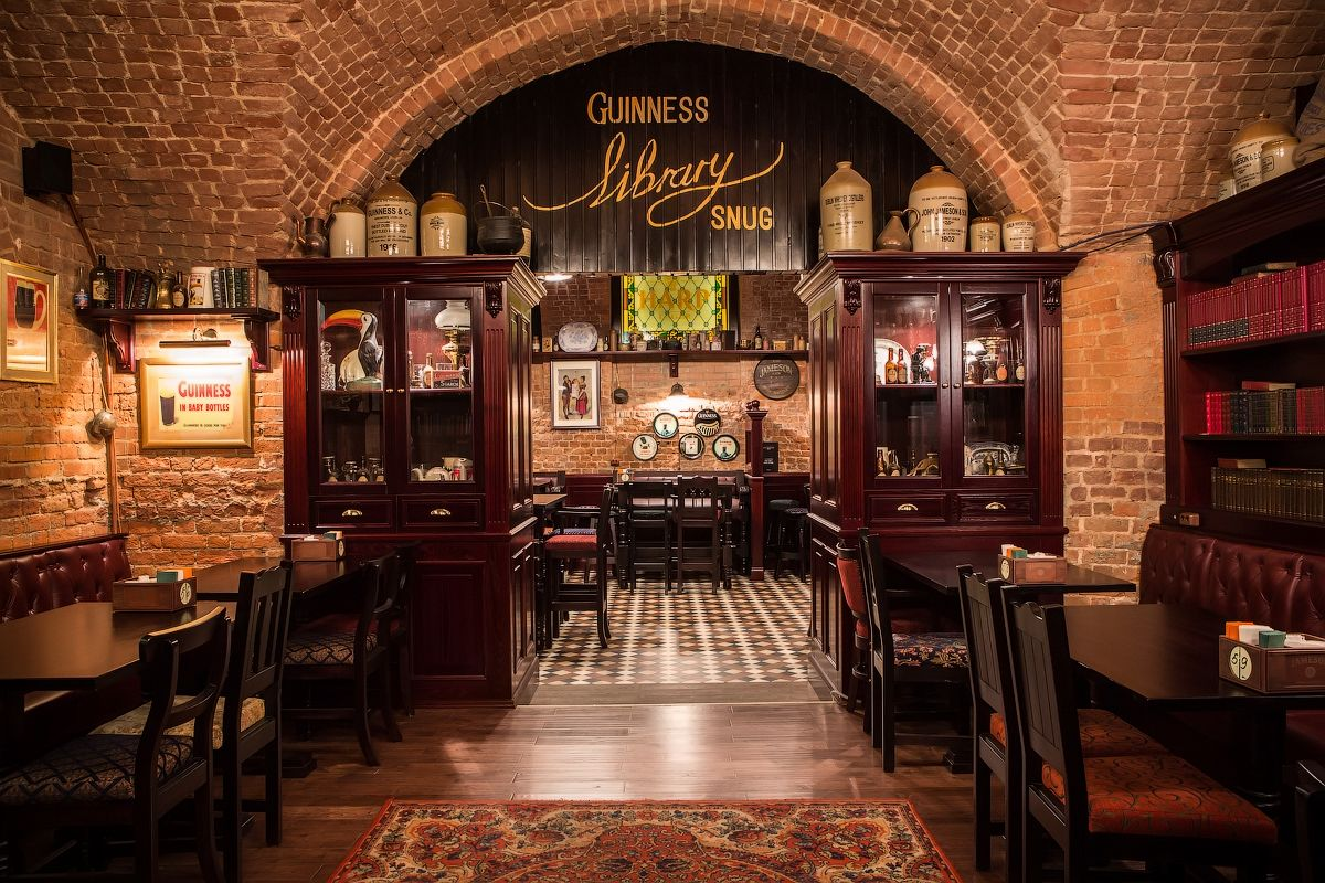 Tap & Barrel Irish Pub Moscow-Library Snug   design by Love Irish