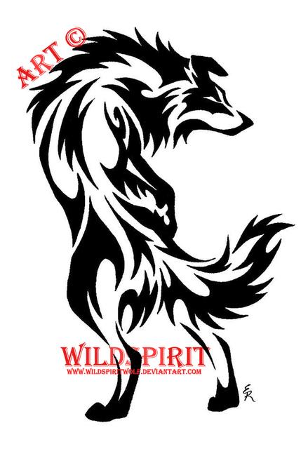 Tribal Border Collie Tattoo By Wildspiritwolf On Deviantart