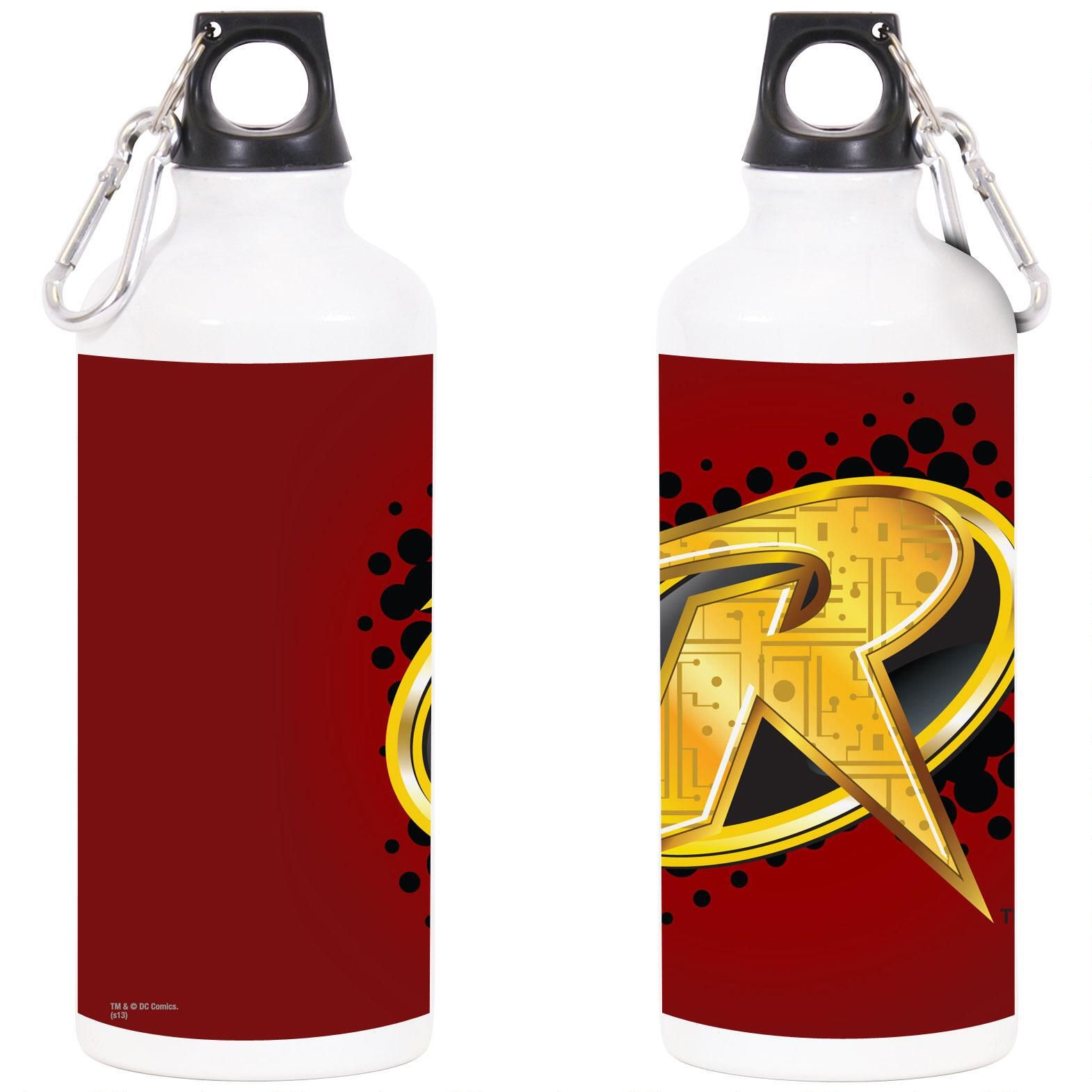 Holy Hydration Batman This Water Bottle Features The Robin Symbol