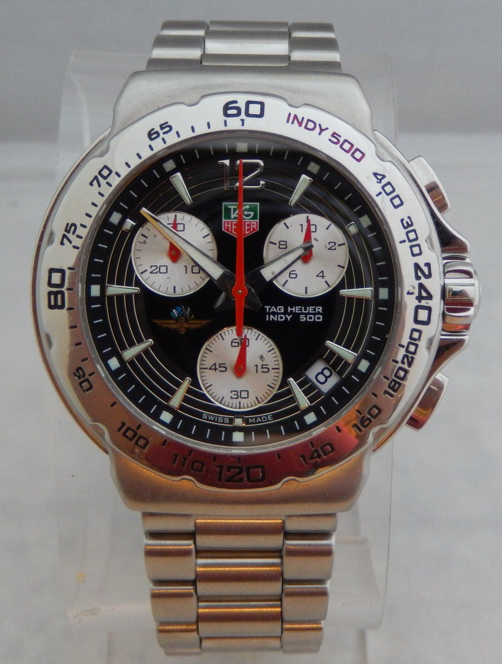 f73151a9954b  695 Tag Heuer 42mm Mens INDY 500 Chronograph CAC111B Watch w BOX   PAPERS.  Come purchase this watch or others like it on our website.