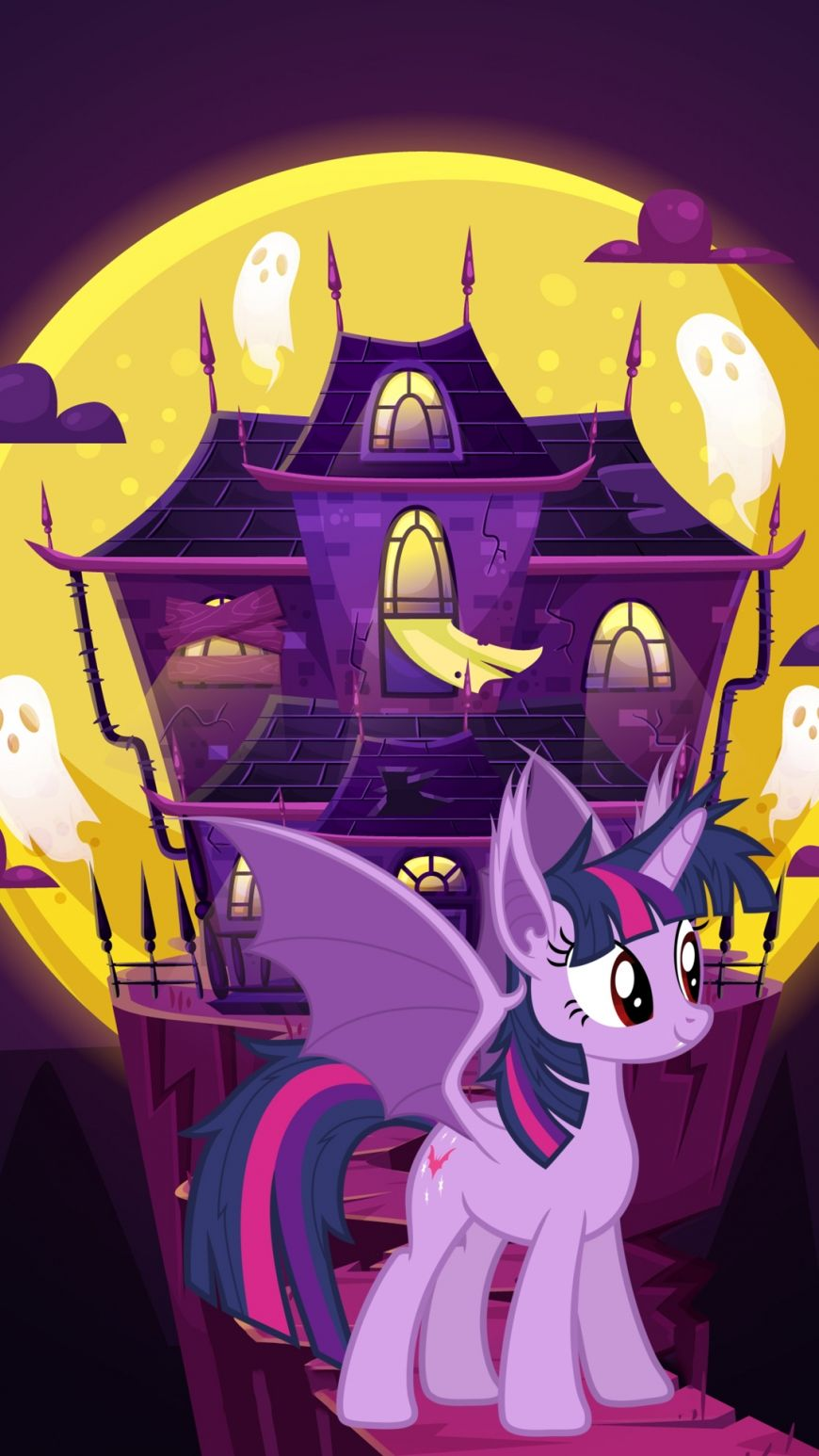 Cute Halloween Phone wallpapers with My Little Ponies as
