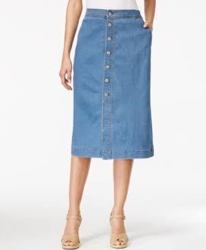 button front denim skirt - Google Search