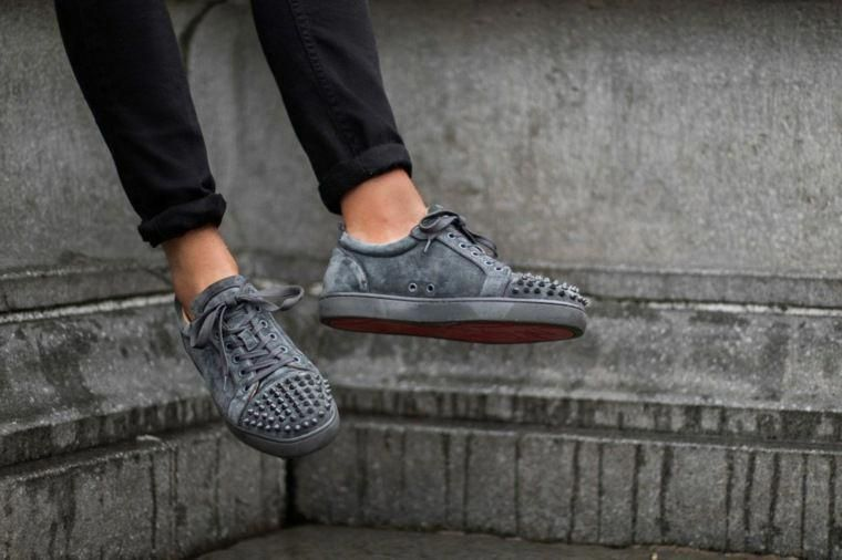 louboutin grise homme