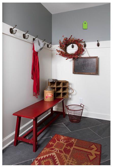 12x24 Black Slate Tile The Grout Color Is C G S Winter Gray 335 Room Design Mudroom Decor Mudroom Design