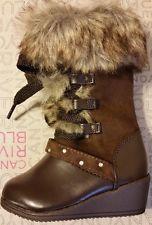 NIB Toddler Girls Winter Snow Boots! zipper! size 5, 6, 7, & 8  Brown SRP $34.99