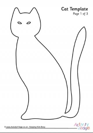 Cat Template 4 ANIMALSMAKING Pinterest Halloween - halloween template