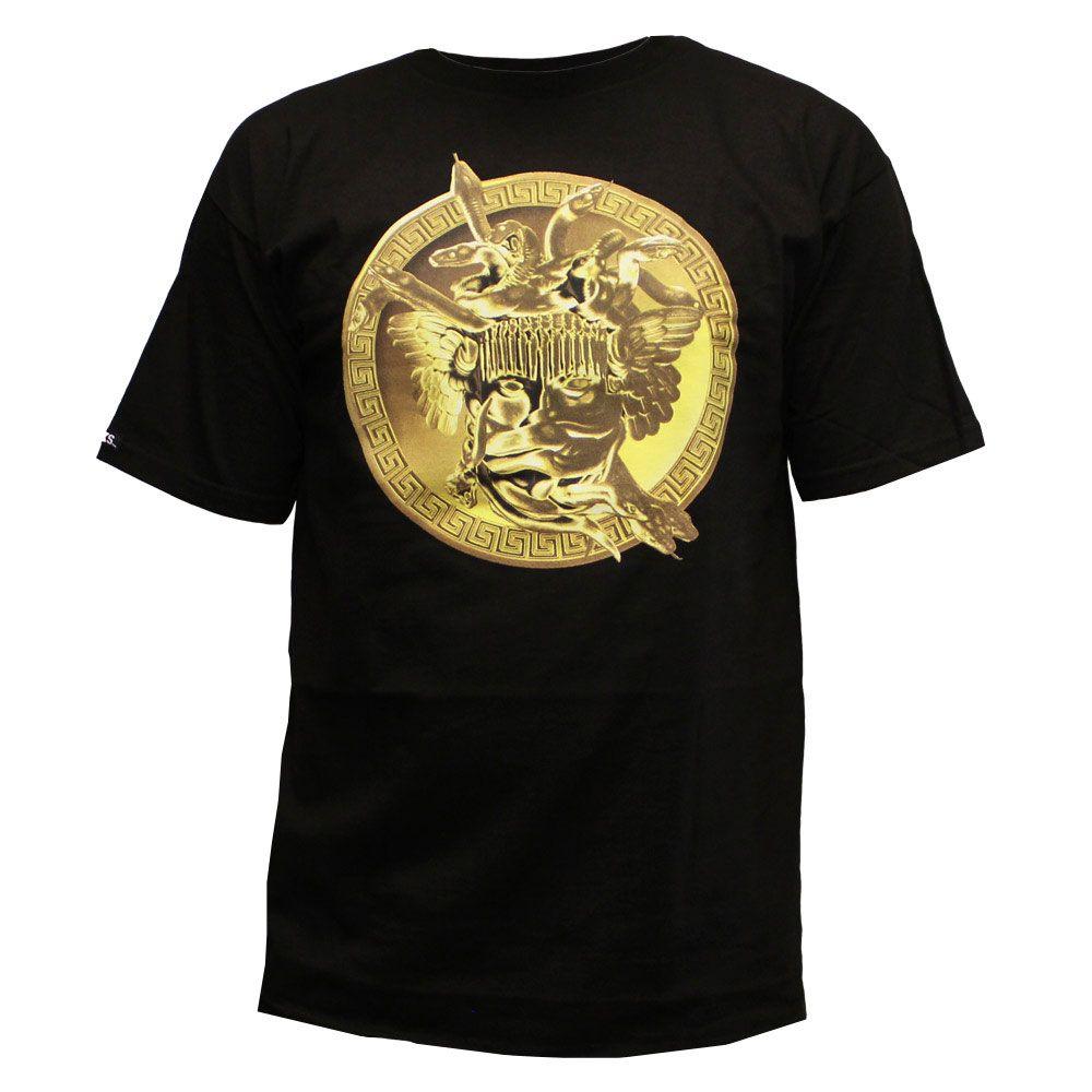 Crooks & Castles Gold Plated Medusa T-shirt Noir