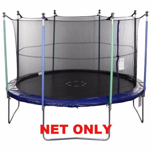 Jump Zone Trampoline Replacement Net: 15' Ft. (Frame Size) Round Replacement Trampoline Safety