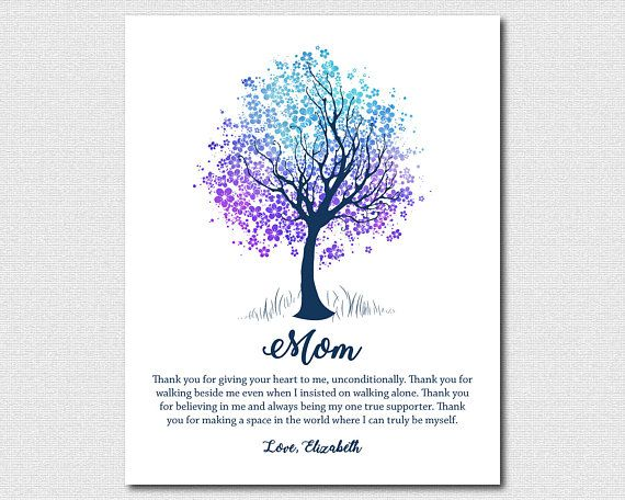 Mother Daughter Poem 80th Birthday Gift For Mom