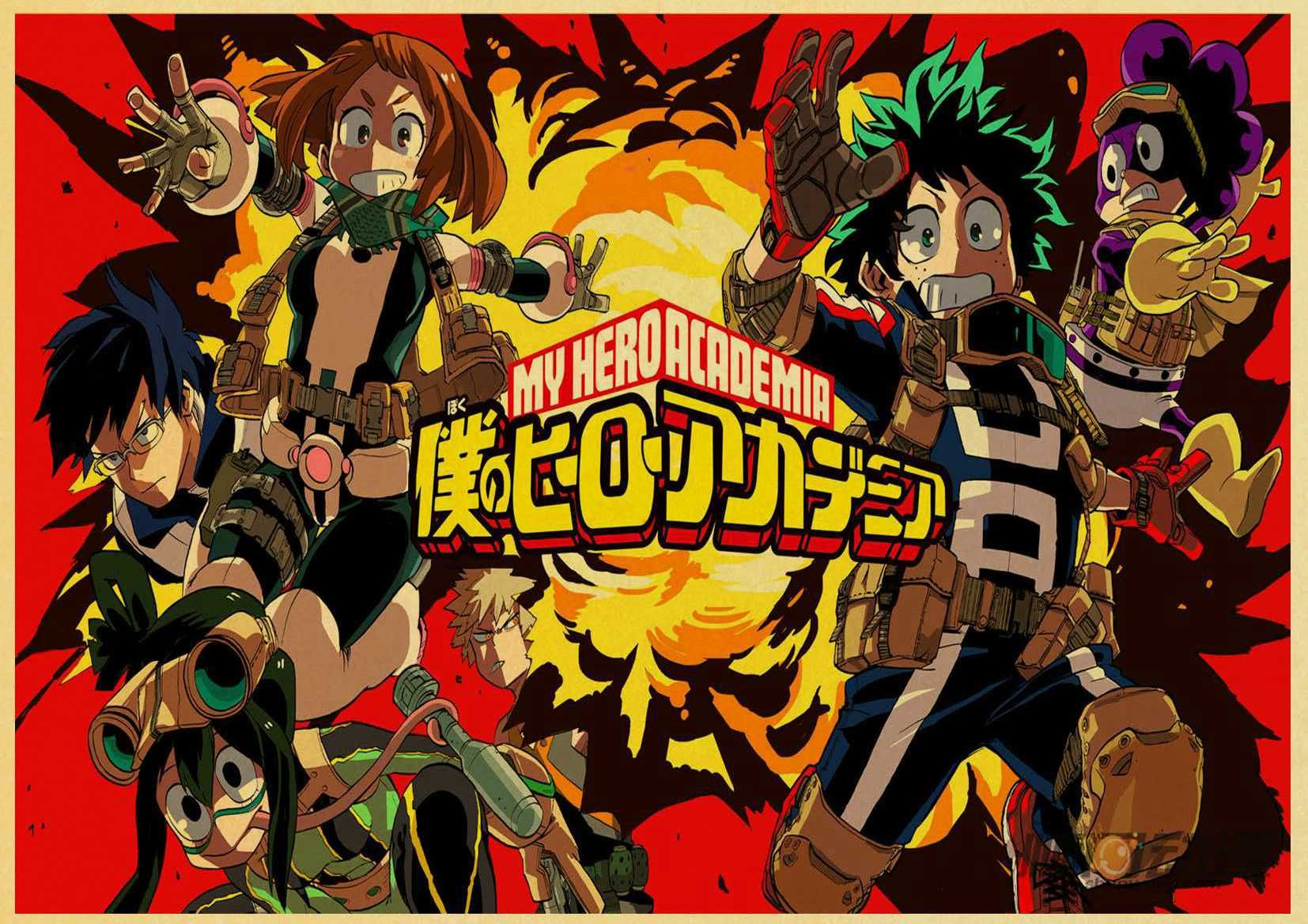 Sick, My Hero Academia Retro poster Free Shipping