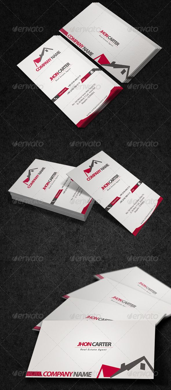 Land Agent Business Card | Business cards, Real estate flyers and ...