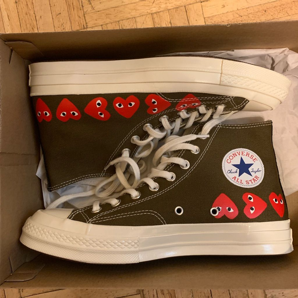 Garcons Play Converse Olive green
