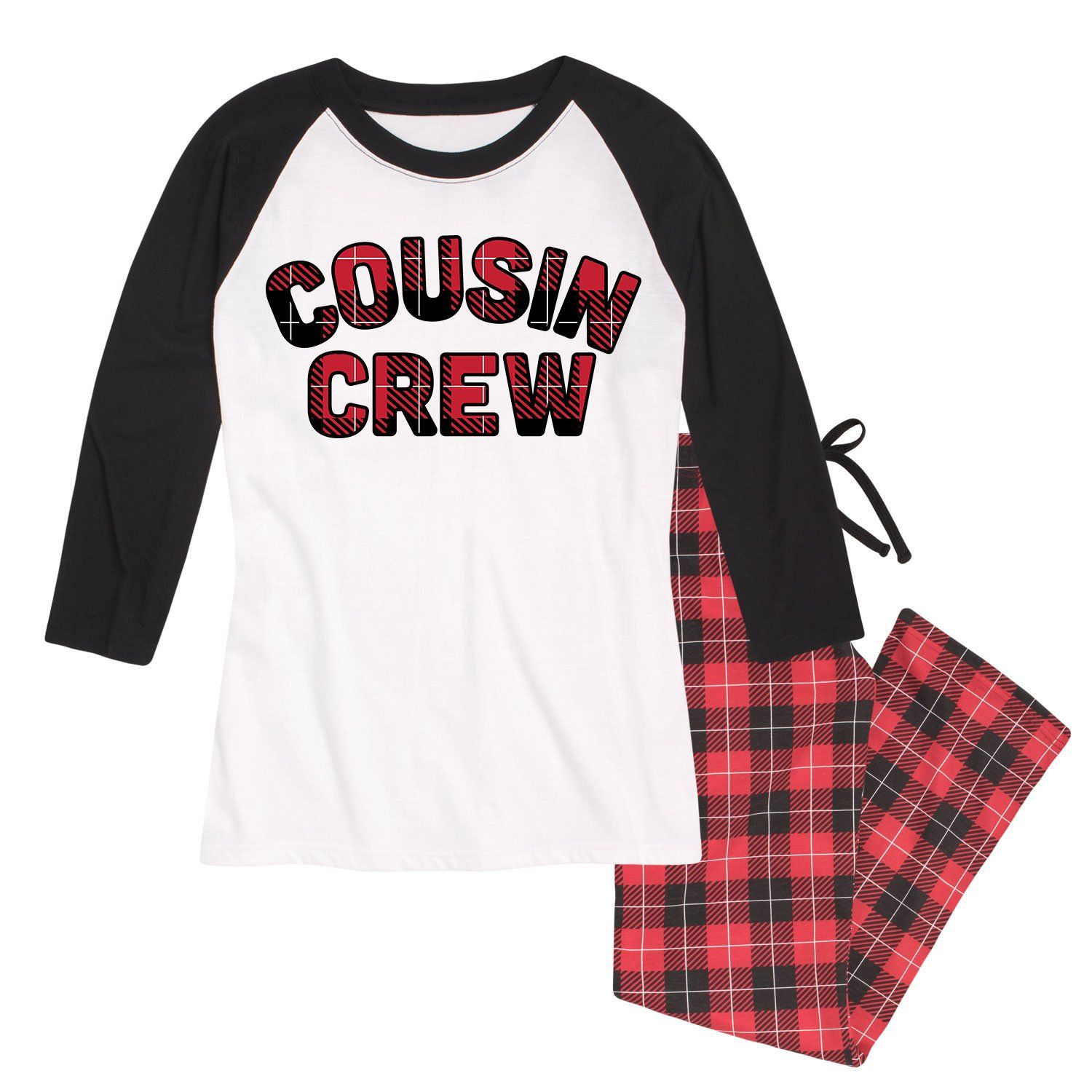 Cousin Crew Buffalo Plaid Pajama Set Ladies  c6bb2bda1
