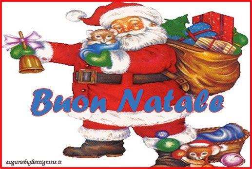 Immagini Di Natale Con Babbo Natale.Biglietti Auguri Di Buon Natale Con Babbo Natale Biglietti