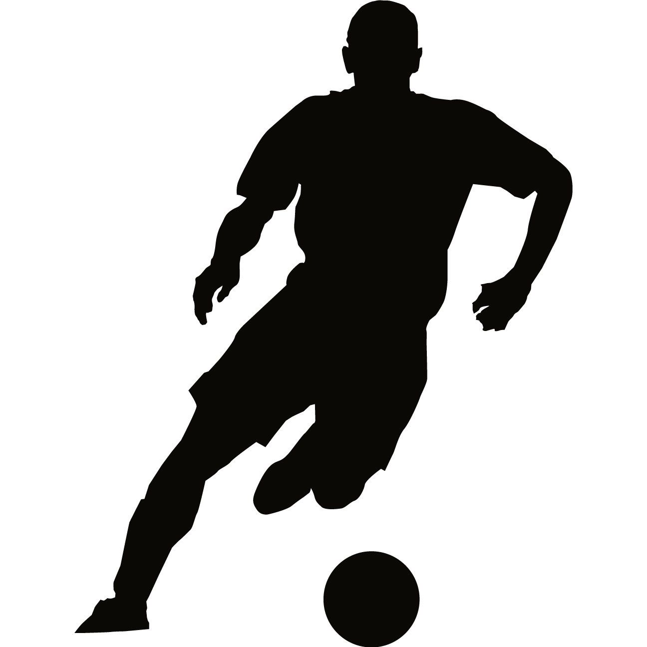 Room Decor Wall Stickers Soccer Wall Decal Sticker Sports Silhouette Decoration