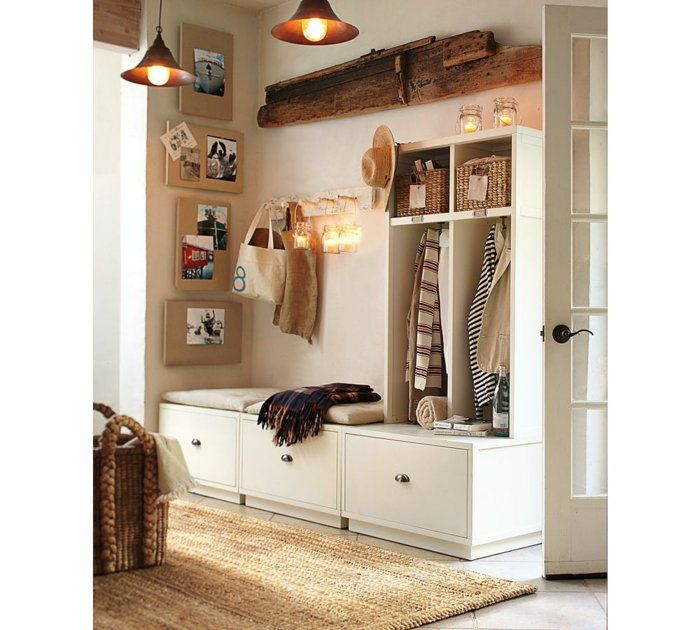 Le banc de rangement un meuble fonctionnel qui personnalise le d cor entr e - Meuble de rangement entree ...