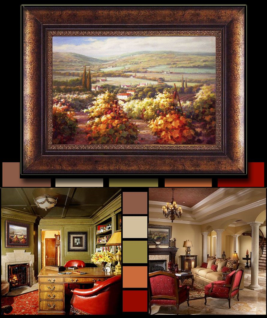 tuscan red you love the color red but you aren t sure on best wall color for artwork id=25037
