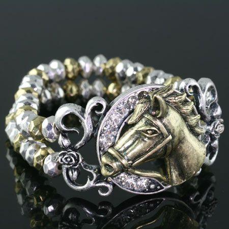 Horseshoe & Horse Bracelet, very cute!
