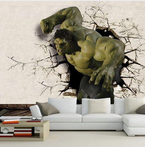 3d hulk superhero wallpaper for walls wall decor