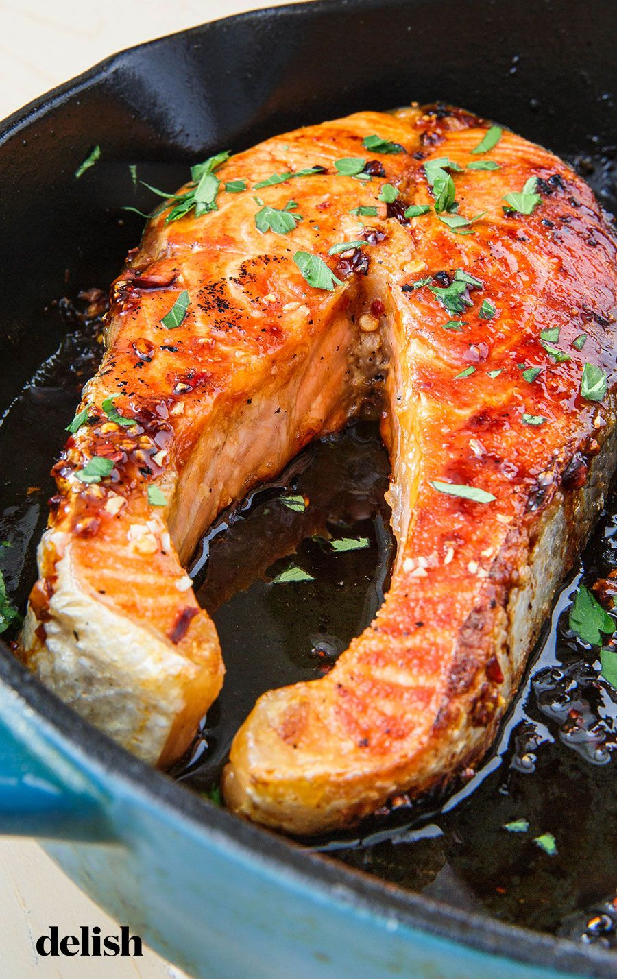 You Only Need 10 Minutes To Make These Buttery Salmon Steaks Recipe Salmon Steak Recipes Cooking Salmon Steaks Cooking Salmon