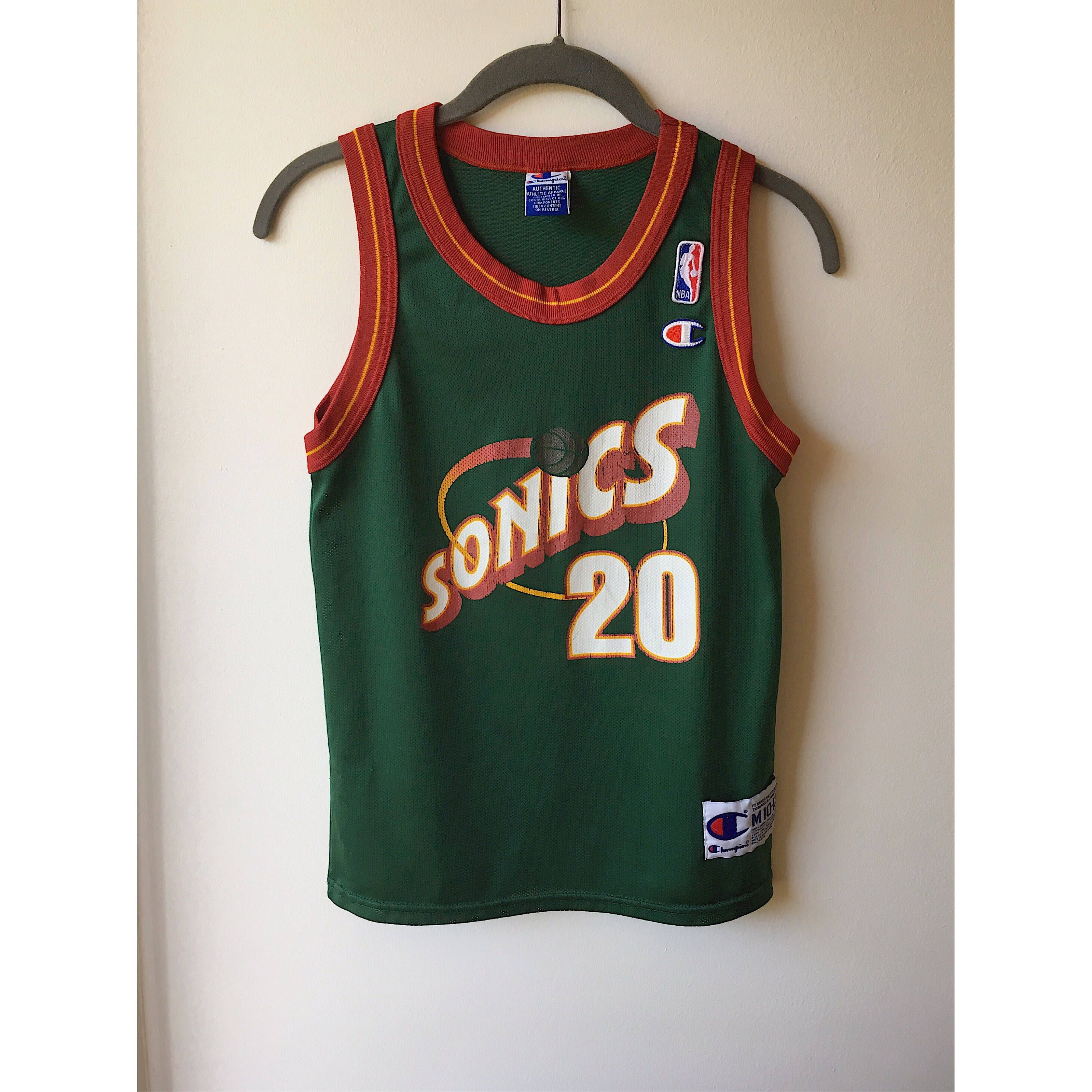 Vintage Sonics Basketball Jersey - Payton 20 NBA - Retro Champion Athletic  Style Sports Wear Youth 10-12 Fits Women Size XS Small by TheThicketParty  on Etsy 3f775a34cc