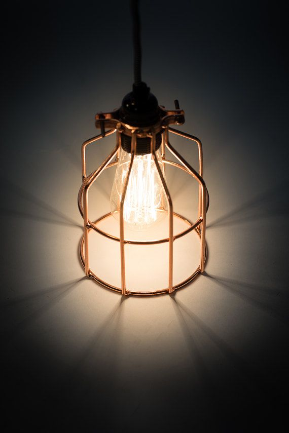 15 pendant light industrial in copper cage lamp