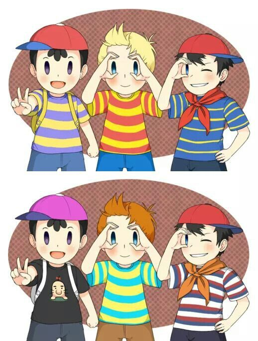 Lucas, Ness, Claus and Ninten  | Mother Series | Mother