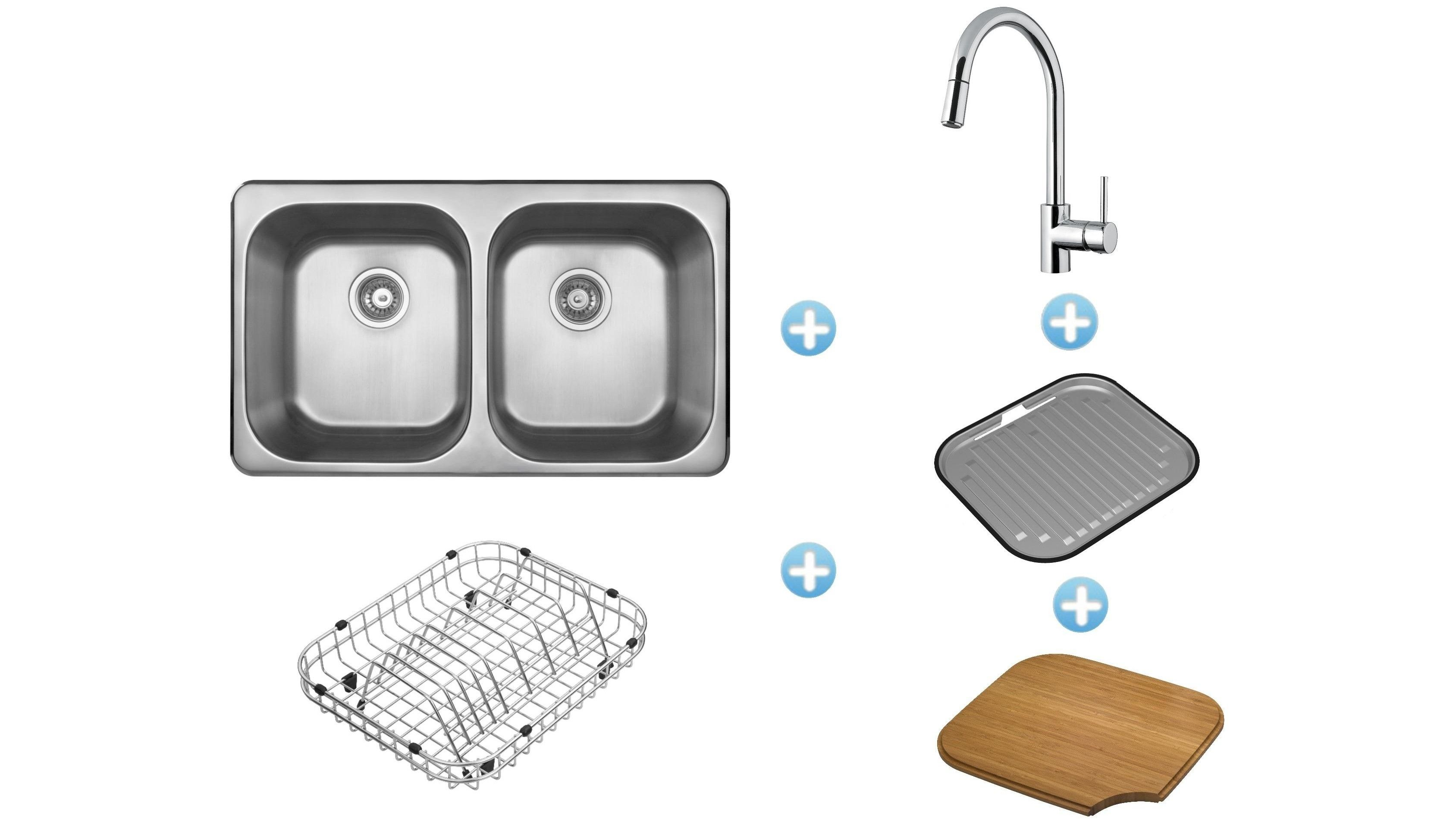 Abey The Daintree Inset Sink Package with Siena Pull-Out Kitchen ...