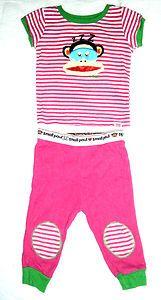 Girls Size 12m small paul Paul Frank Pajamas, Pjs, Sleepwear, 2 Piece Set, Pink. $1.99