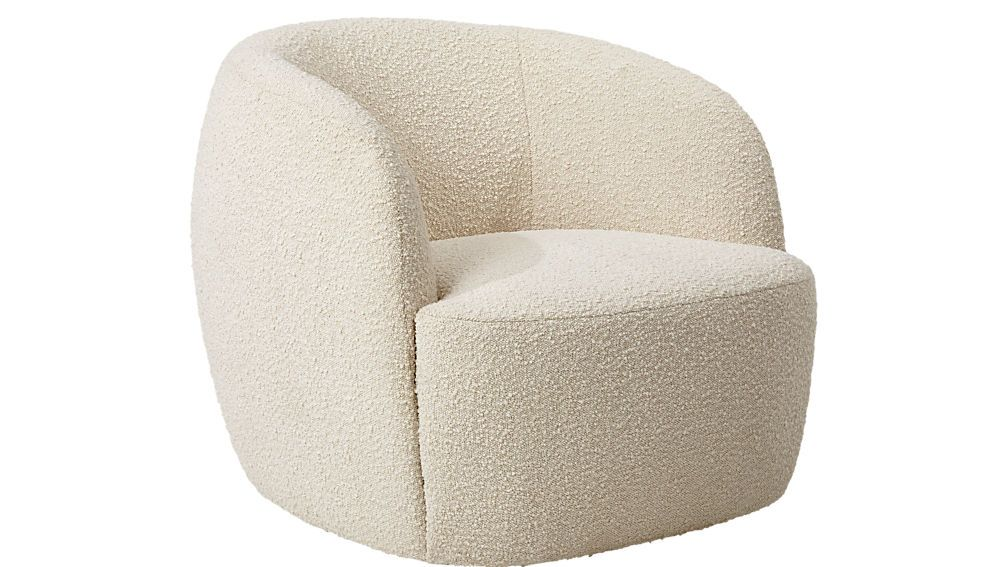 Boucle chair reviews cb2 wooden dining