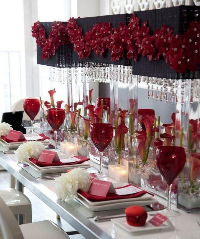 20+ Romantic Table Setting Ideas For Valentine\'s Day | Decoration ...