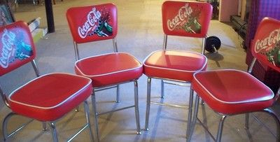 Lot of 4 Coca Cola Chairs 50's and 60's   retro style