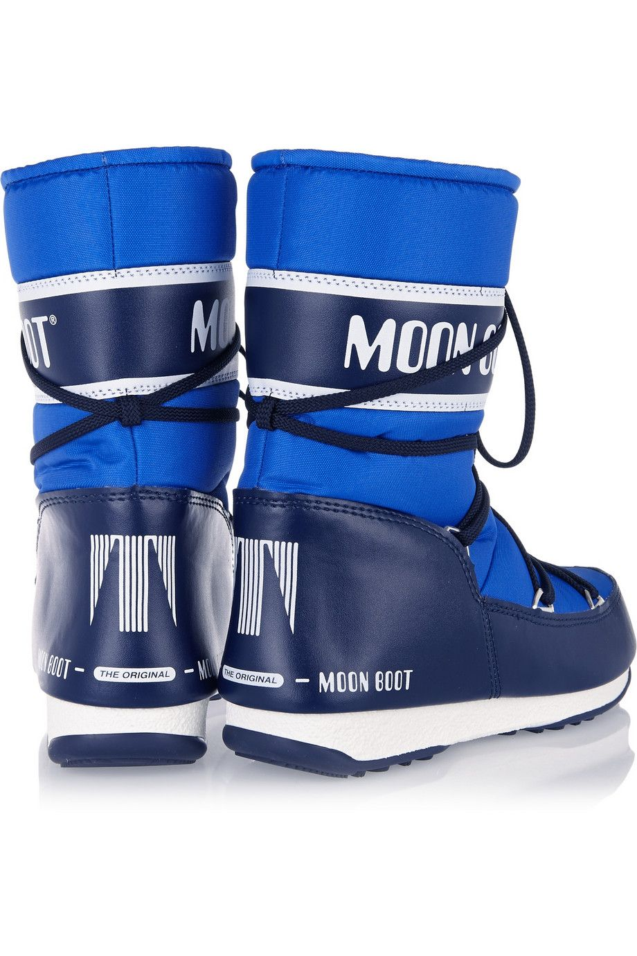 Moon Boot Piquéshell and faux leather snow boots