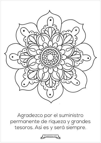 riqueza - mandalas para pintar - frugalisima   mandalas   Pinterest ...