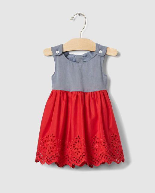 fe85fe5f7 Vestido de bebé niña Gap combinado | niñas | Baby Dress, Vintage ...