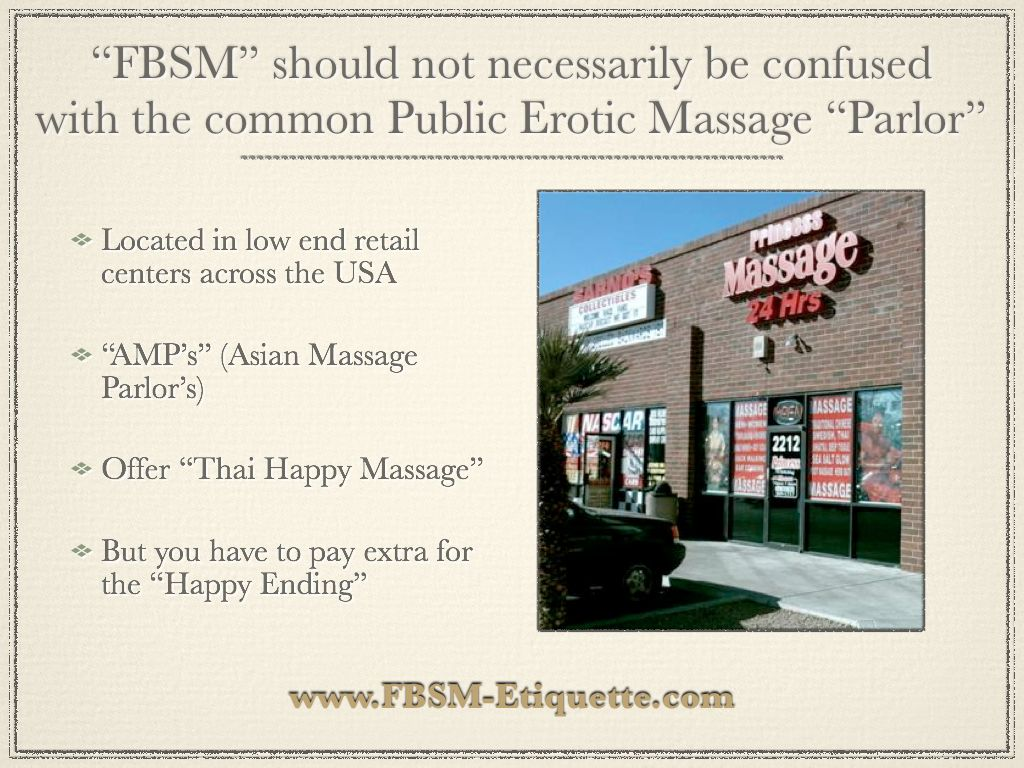 Asian massage parlor etiquette