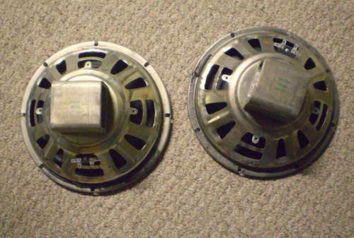 """Vintage Pair Alnico CTS Magnavox WOOFERS 10"""" 4 ohms working"""