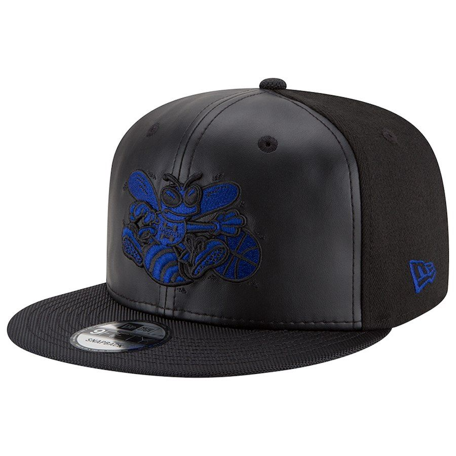 new style ef973 6433e Men s Charlotte Hornets New Era Black Space Hook 9FIFTY Adjustable Hat,   29.99