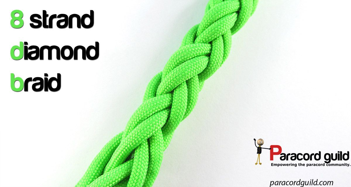 8 strand diamond braid tutorial.