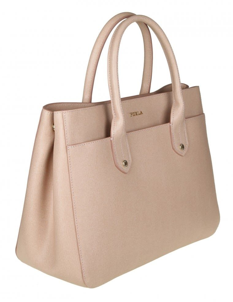 cc03d5b777 FURLA BAG M MEDITERRANEAN IN SKIN COLOR POWDER. #furla #bags #shoulder bags  #hand bags #leather #lining #