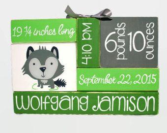 John Deere Inspired Nursery Baby Birth Stat by WoodenBlock on Etsy