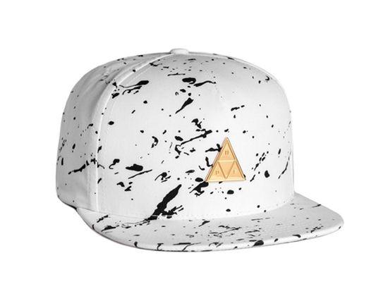 Splatter Metal Triangle Snapback Cap by HUF  74357b8a45f