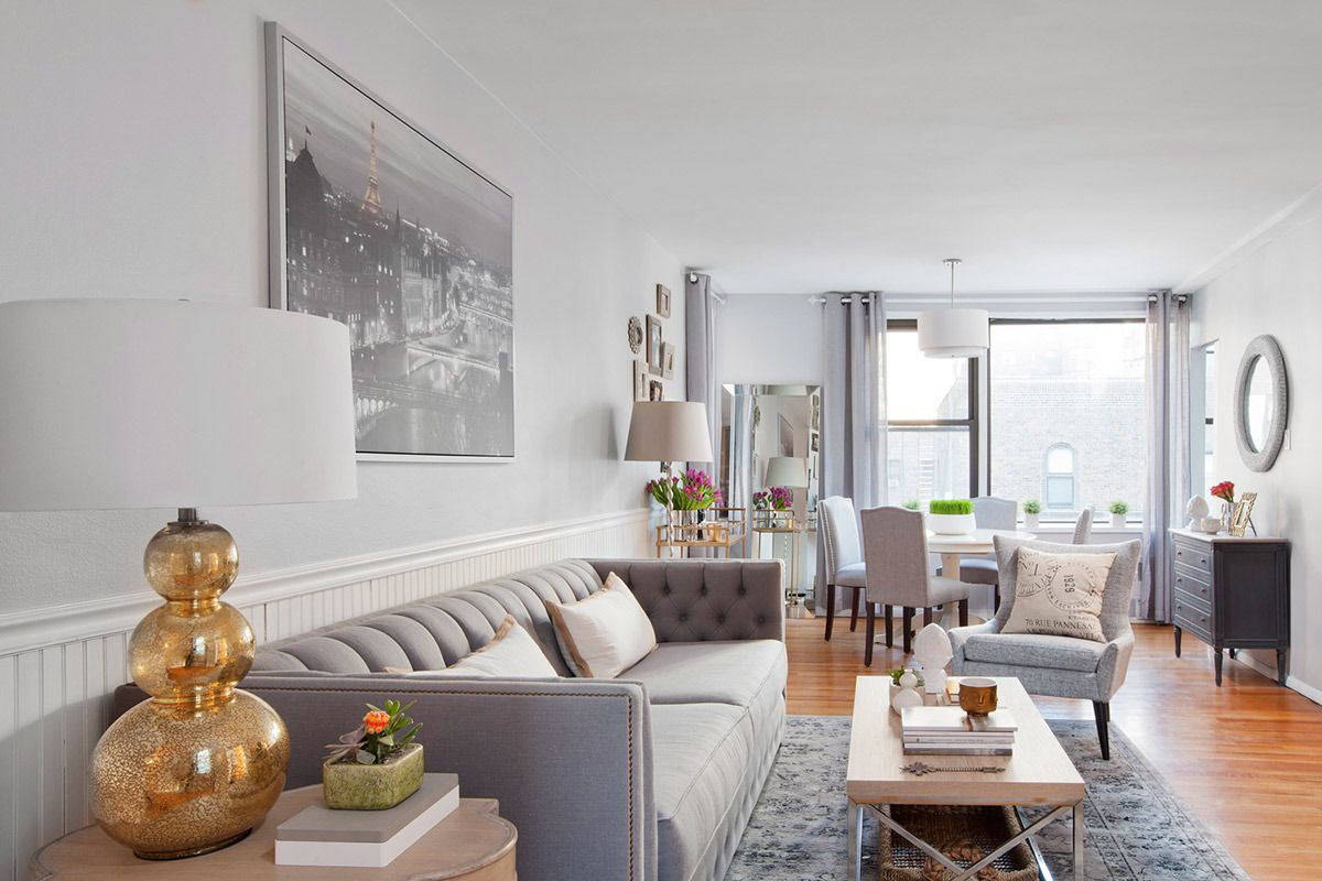 Using light, white, and gray tones lightens up an otherwise dark ...